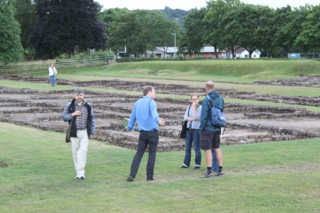 the Past in its Place project team, exploring the Roman barracks