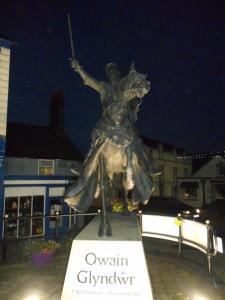 Corwen's striking neo-medieval equestrian statue of Owain Glyndwr