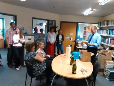 Farewell gifts for Dr Keith McLay from the Department of History and Archaeology