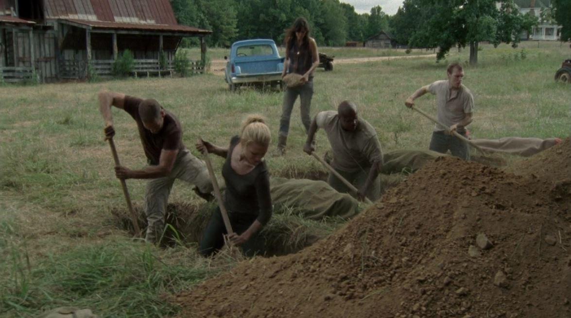 The Walking Dead Season 2 Burying And Burning A Barn Of