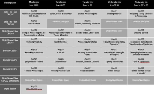 TAG timetable