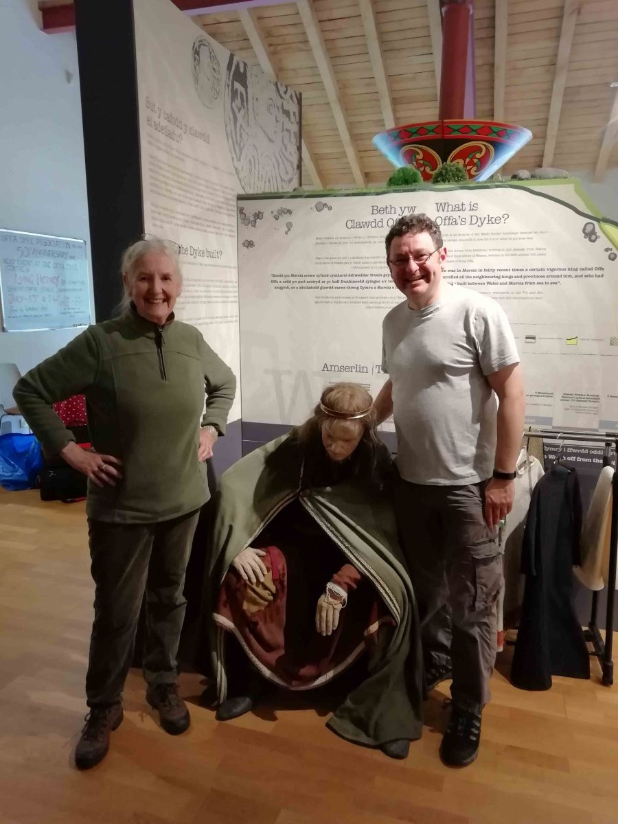 Meeting, and Introducing Offa's Dyke to, Dr Natalie Fryde