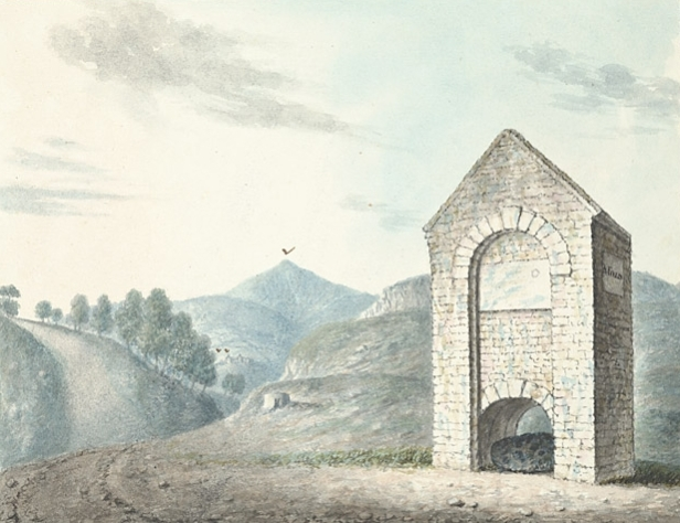 The_stone_under_this_arch_called_Carreg_Carn_March_Arthur,_1796