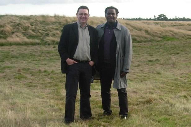 Sutton Hoo - HW and Robert Beckford